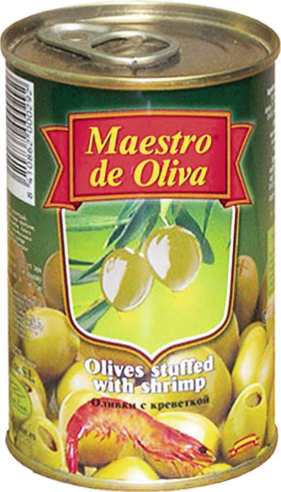 Оливки MAESTRO DE OLIVA с креветками , 300г