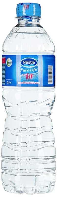 Питьевая вода NESTLE Pure Life негазированная, 0,5 л