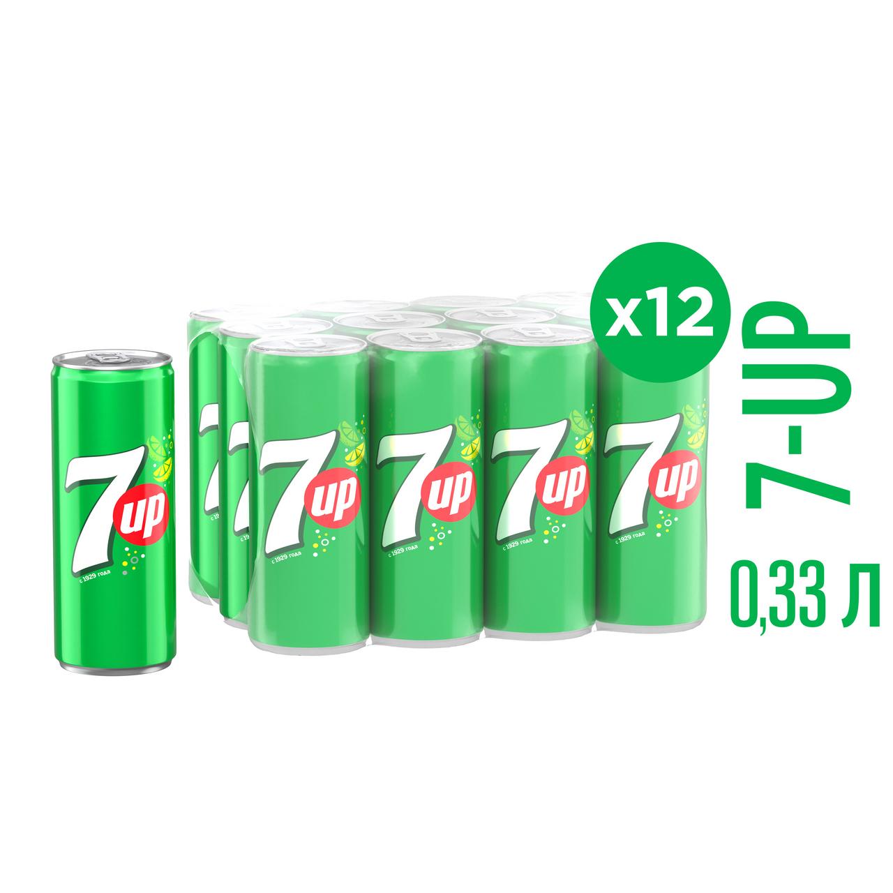 Газированный напиток 7-UP, 0,33 л