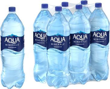 Вода питьевая AQUA MINERALE газированная в упаковке, 6х2л
