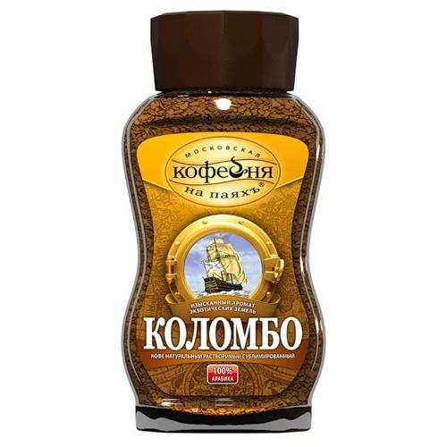 Кофе растворимый МОСКОВСКАЯ КОФЕЙНЯ НА ПАЯХЪ Коломбо, 95г