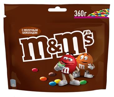 Драже M&M' s с молочным шоколадом, 360 г