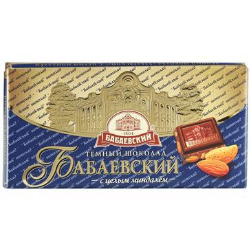 Шоколад БАБАЕВСКИЙ с миндалем, 100г