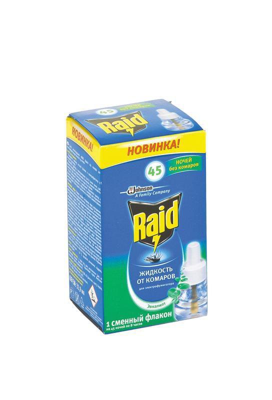 Жидкость для фумигатора RAID Эвкалипт 40 ночей, 32,9 мл