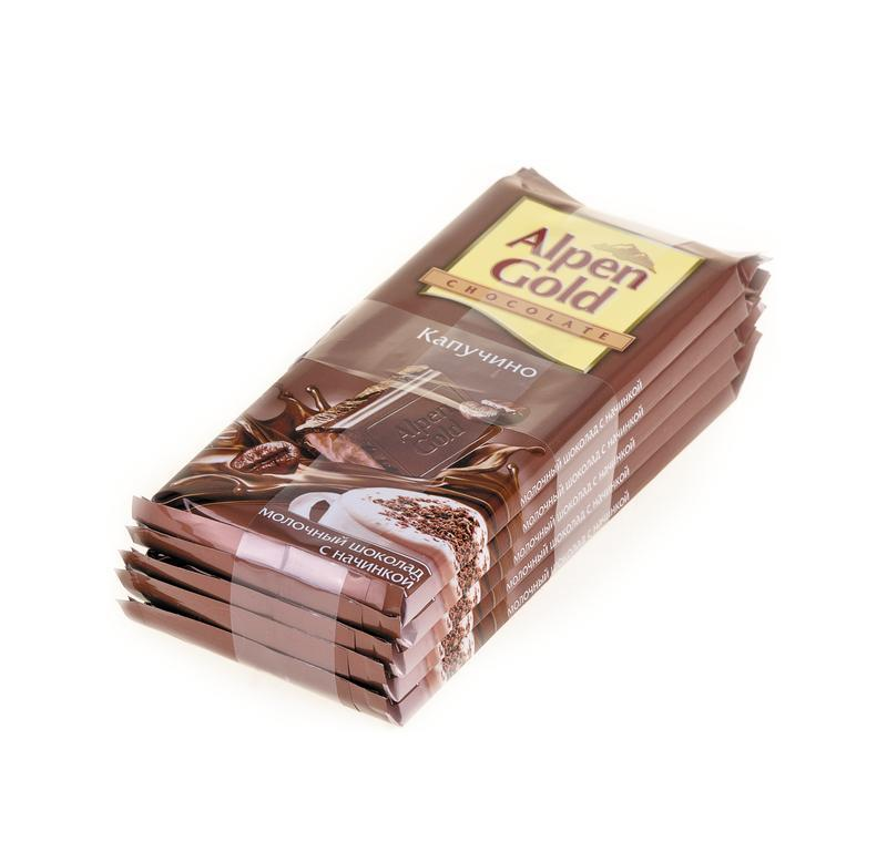 Шоколад ALPEN GOLD Капучино, 90 г