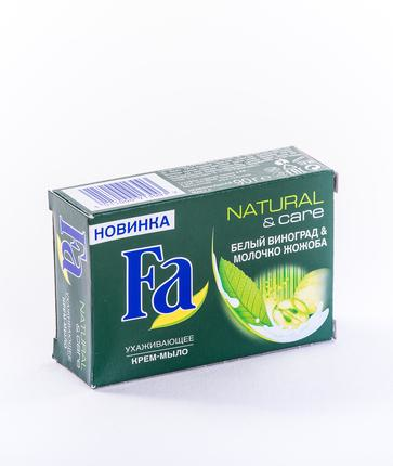 Кусковое мыло FA Natural and Care Белый Виноград и Молочко Жожоба, 90г