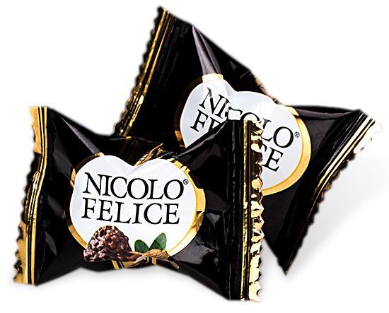 Конфеты NIKOLOFELICE шоколад арахис 2000 г