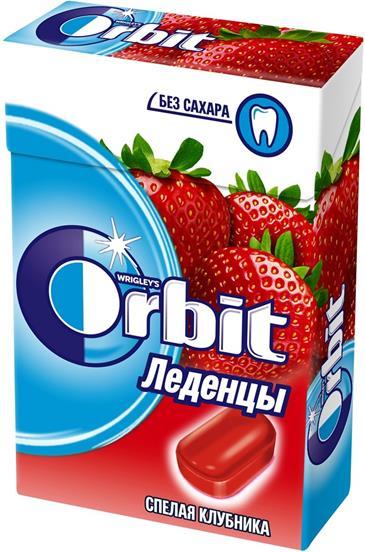 Леденцы WRIGLEY`S ORBIT спелая клубника, 35г