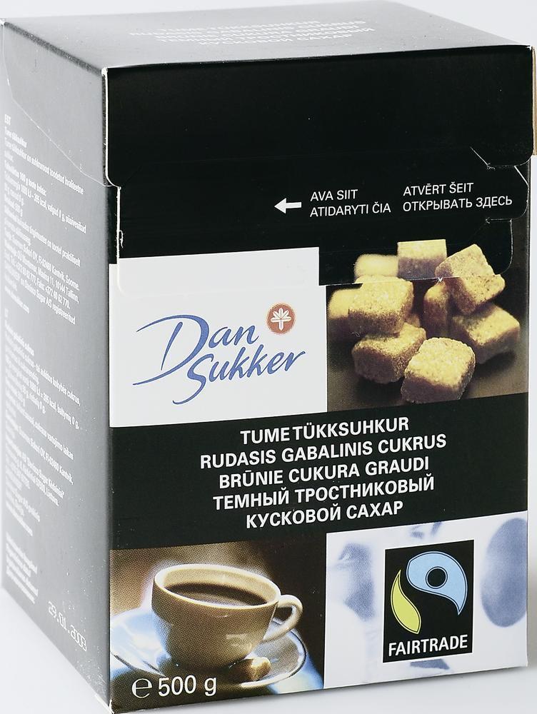 Сахар темный кусковой DAN SUKKER, 500г