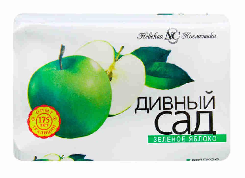 Мыло туалетное НЕВСКАЯ КОСМЕТИКА дивный сад зеленое яблоко твердое, 90г