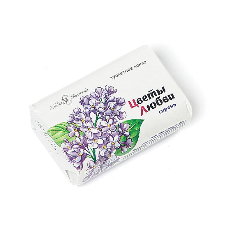 Мыло туалетное НЕВСКАЯ КОСМЕТИКА Цветы любви сирень твердое, 90г
