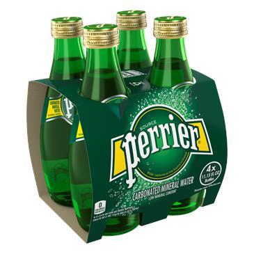 Минеральная вода PERRIER газированная, упаковка 4*0,33 л