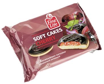 Печенье бисквитное FINE LIFE с вишневой начинкой, 270г