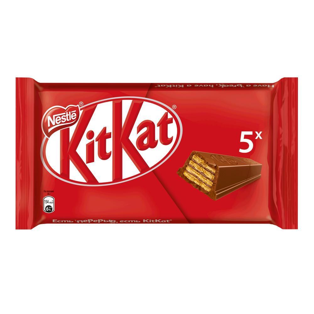 Шоколадный батончик KIT KAT вафельный в упаковке, 5*29.5 г