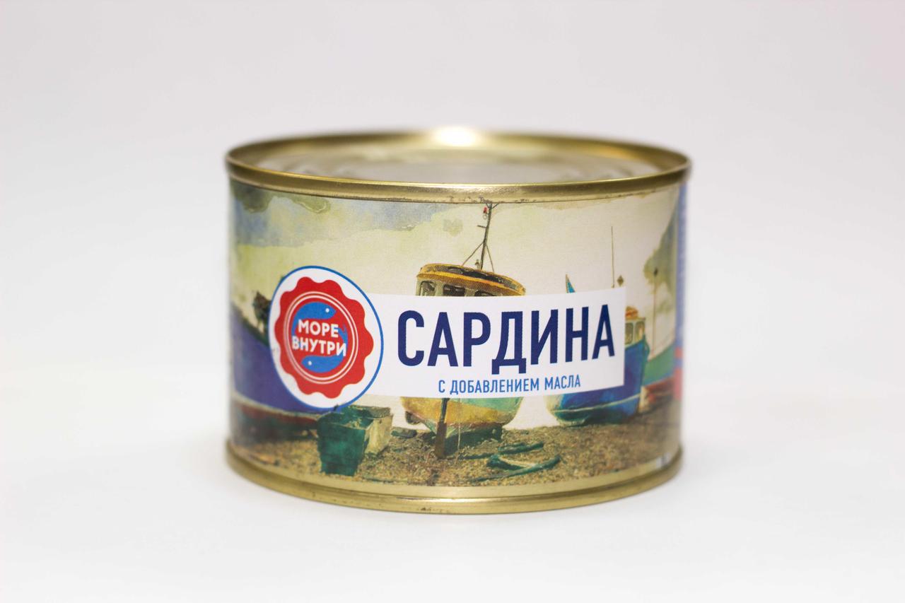 Сардина МОРЕ ВНУТРИ, 250 г