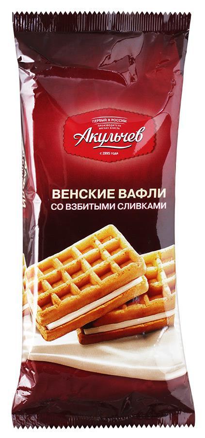 Венские вафли со взбитыми сливками АКУЛЬЧЕВ, 140 г