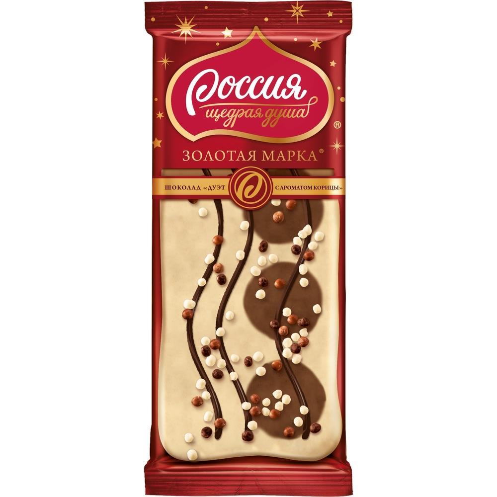 Шоколад ЗОЛОТАЯ МАРКА дуэт с корицей 85 г