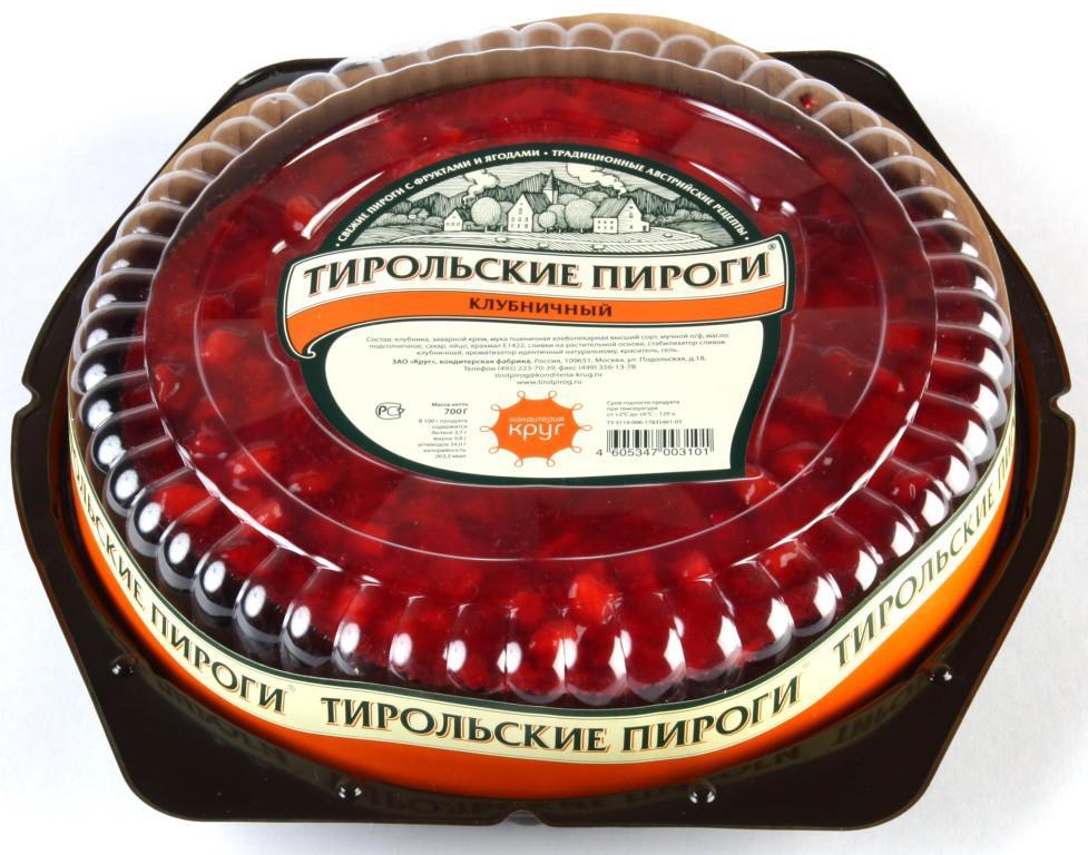 Пирог ТИРОЛЬСКИЙ Клубника, 700г