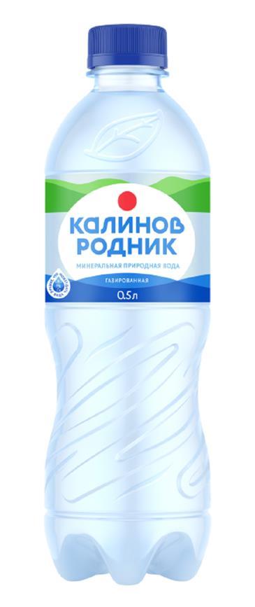 Вода КАЛИНОВ РОДНИК Газированная 0,5 л