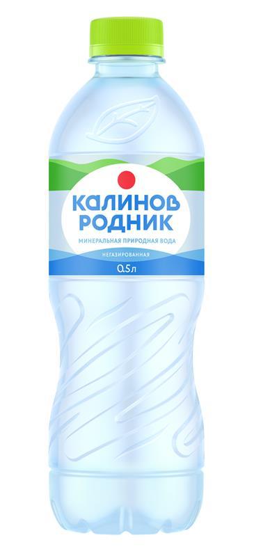 Питьевая вода КАЛИНОВ РОДНИК артезианская негазированная, 0,5 л