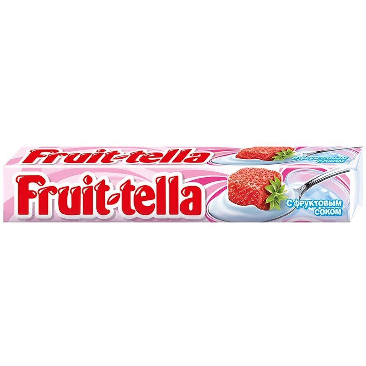 Жевательная конфета FRUIT-TELLA клубника и йогурт, 41г