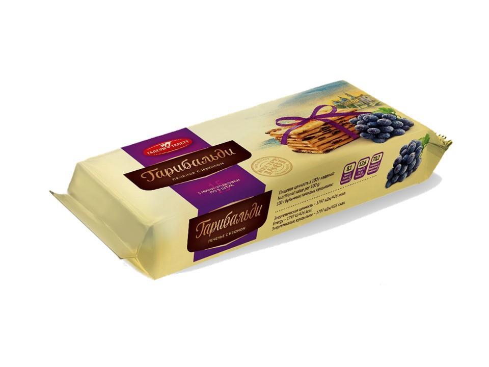 Печенье ГАЛЕРИГАЛЕТТ затяжное с изюмом, 180 г
