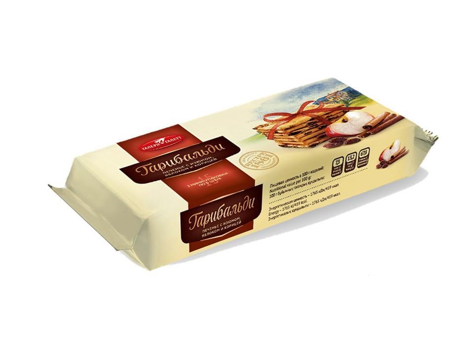 Печенье ГАЛЕРИГАЛЕТТ затяжное с изюмом яблоком и корицей, 180 г