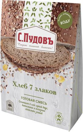 Хлебная смесь С.ПУДОВЪ 7 злаков готовая, 500г