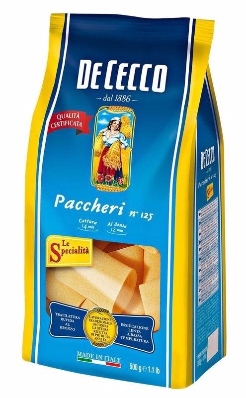 Макаронные изделия DE CECCO Paccheri №125, 500г