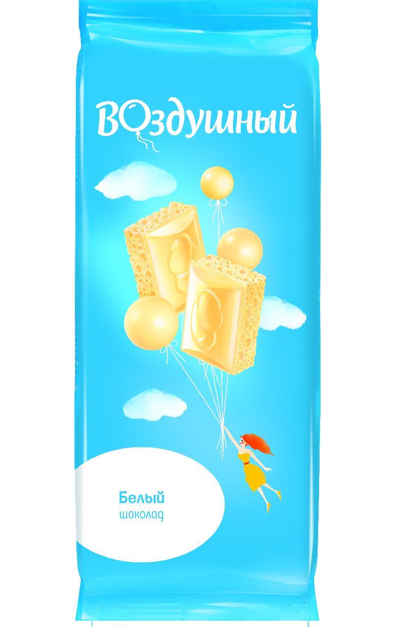 Шоколад белый ВОЗДУШНЫЙ пористый, 85 г