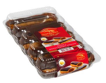 Пирожные ЧЕРЕМУШКИ Эклер с шоколадным кремом, 200г