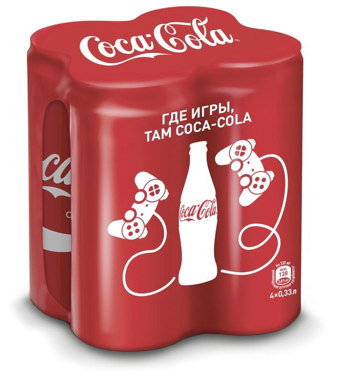 Газированный напиток COCA-COLA twin, 0,33л*4
