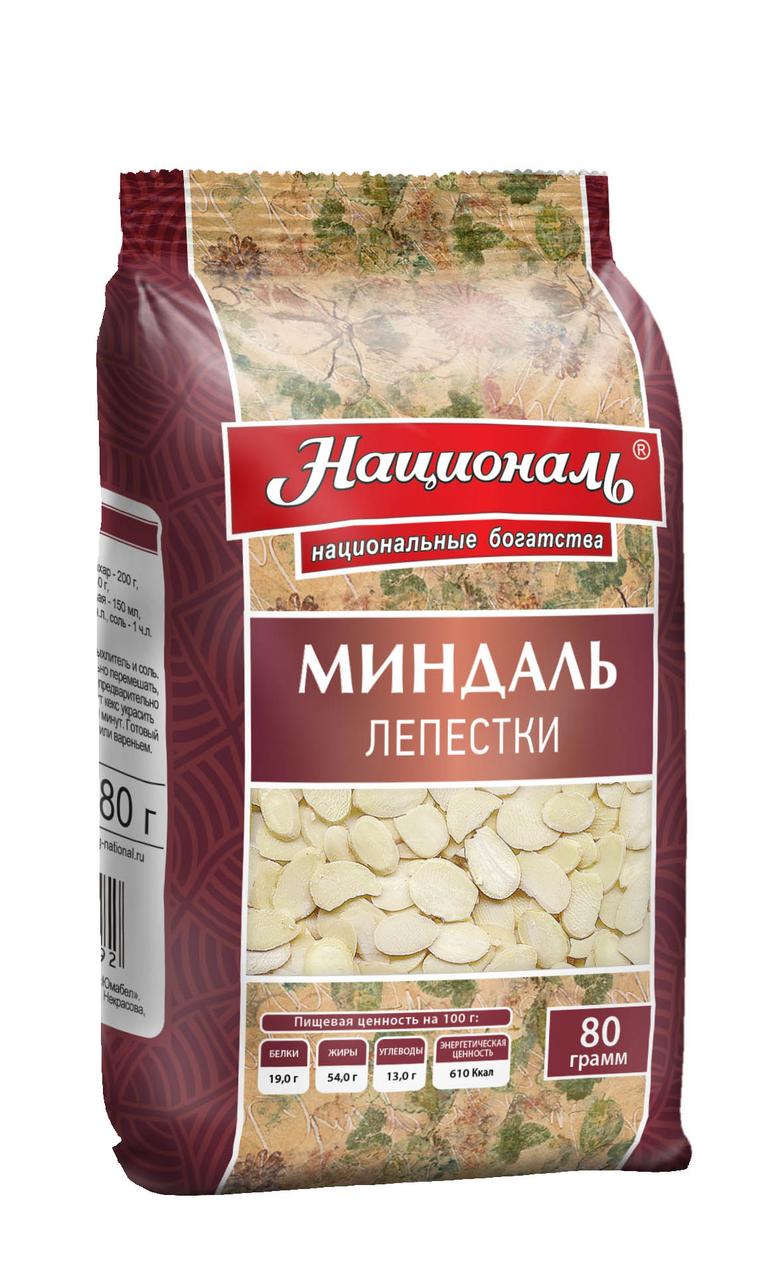 Лепестки миндаля НАЦИОНАЛЬ, 80 г