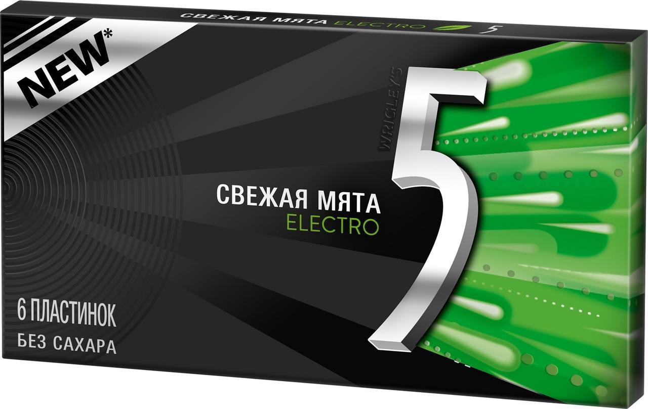 Жевательная резинка FIVE ELECTRO со вкусом мяты 14,5 г