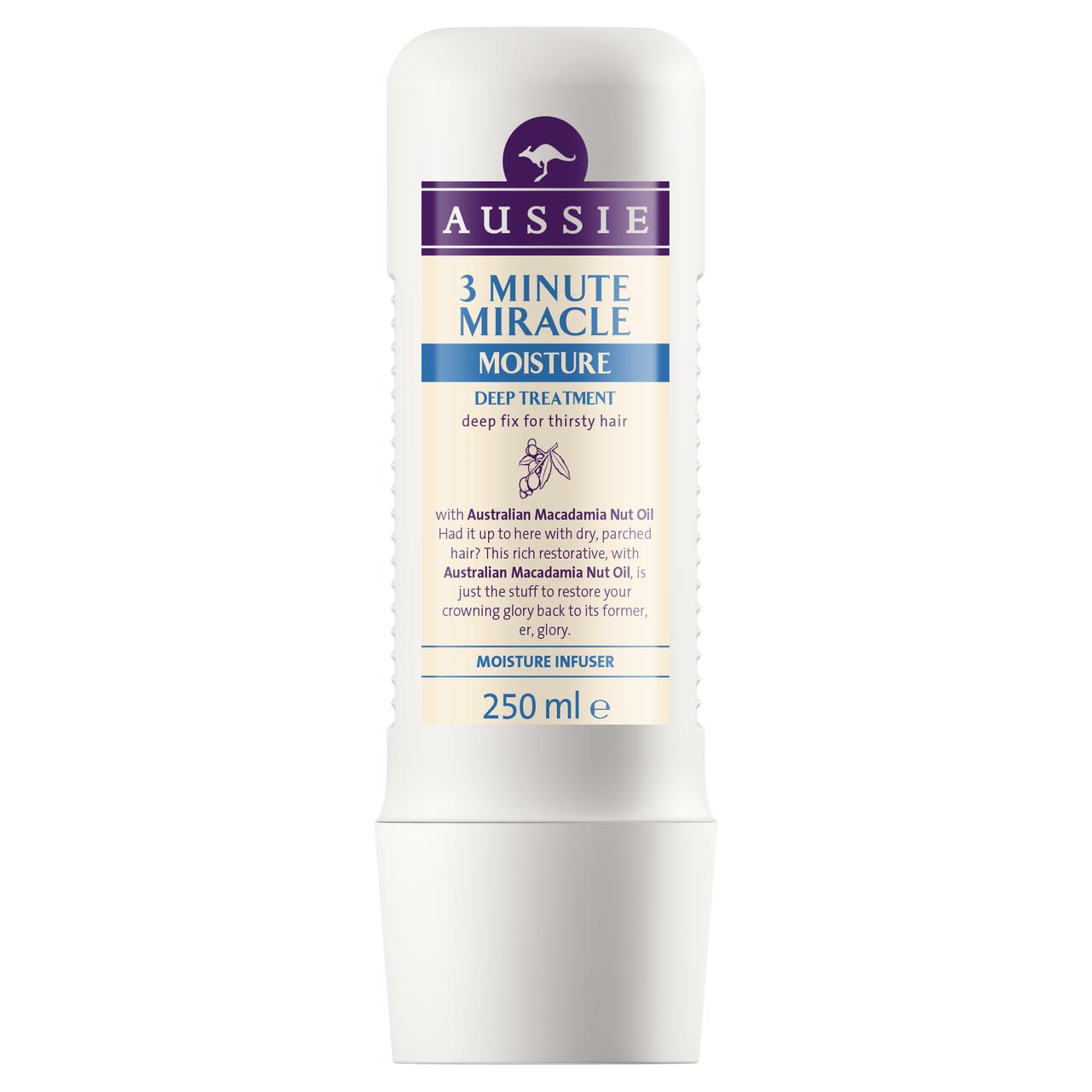 Средство для волос AUSSIE Интенсивный уход 3 Minute Miracle Moisture, 250мл