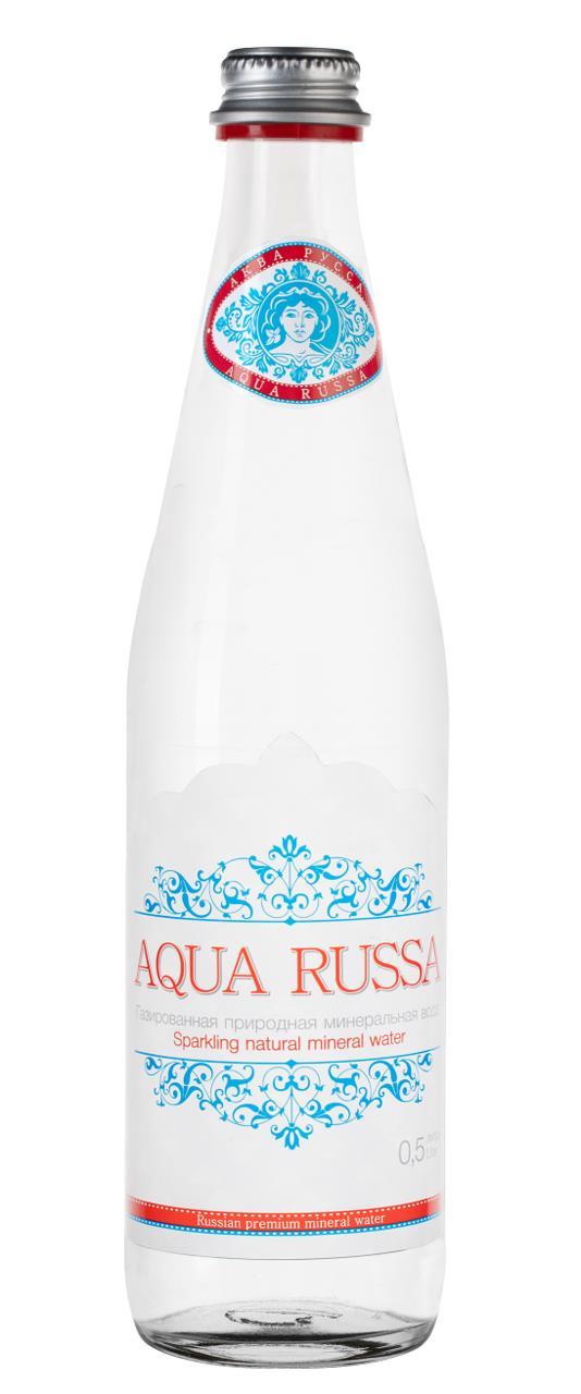 Вода AQUA RUSSA газированная, 0,5 л