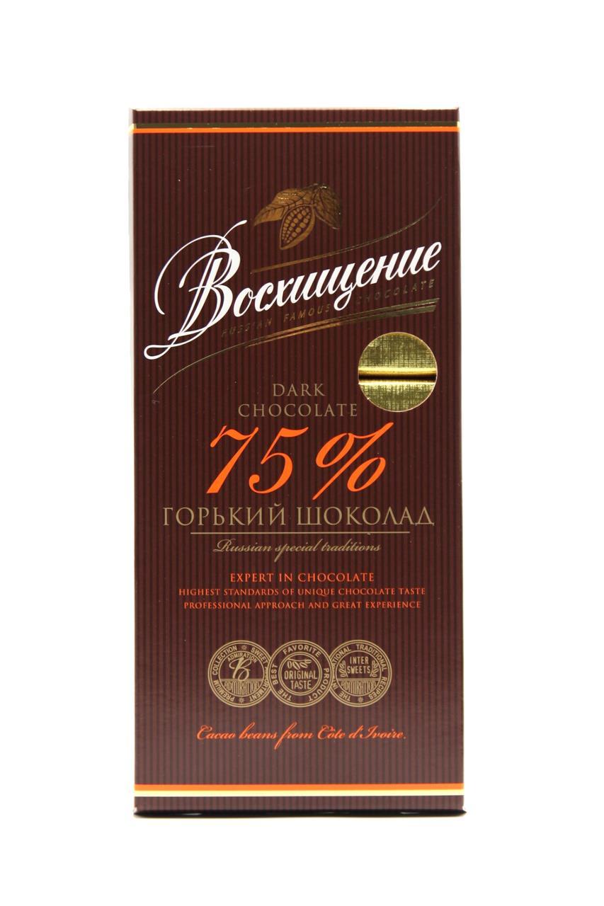 Шоколад ВОСХИЩЕНИЕ горький 100% какао, 140 г