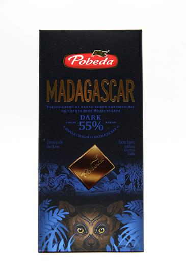 Горький шоколад Мадагаскар Победа Вкуса 55%, 100 г