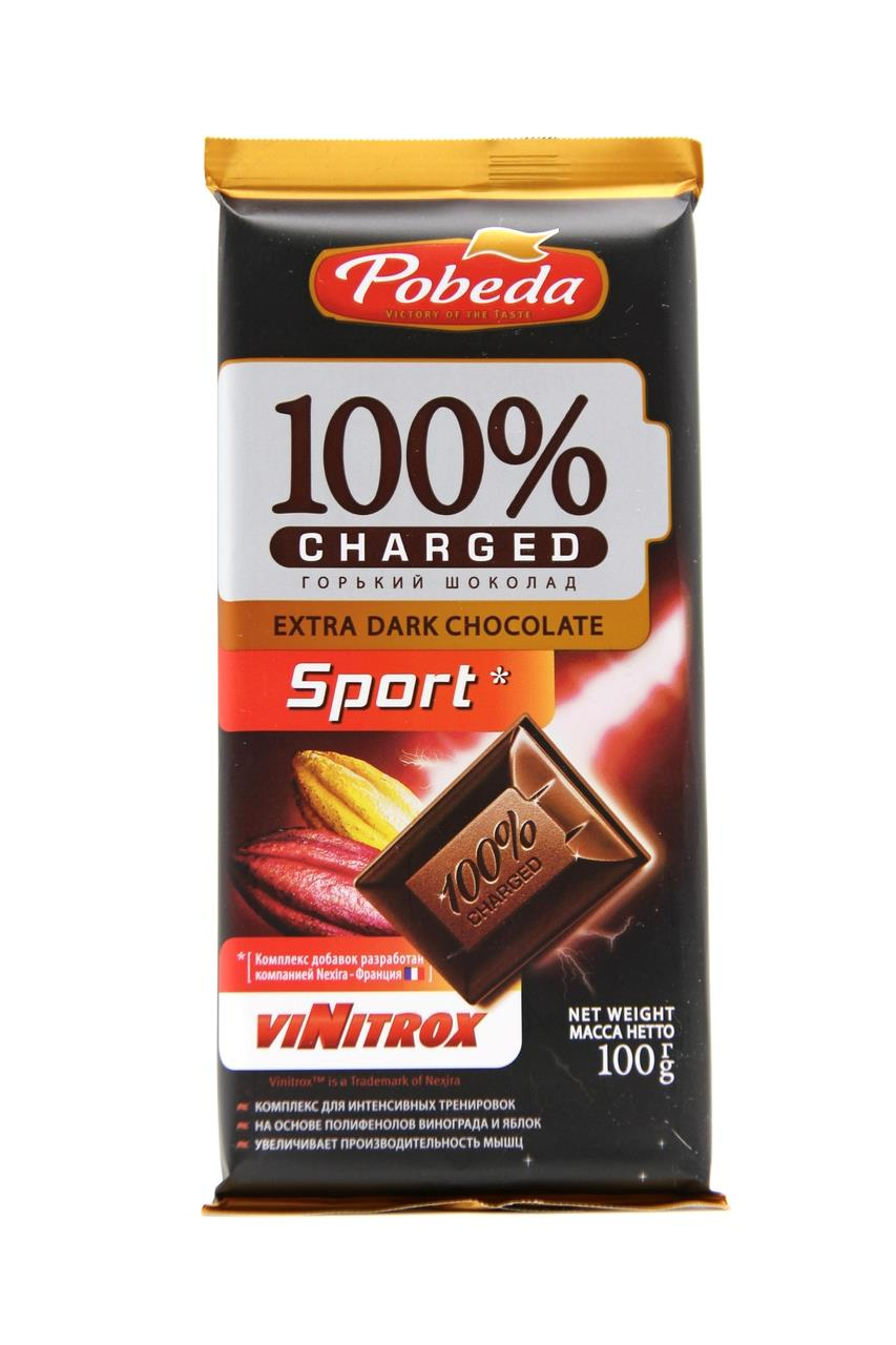 Шоколад POBEDA 100% Charged Sport, 100 г