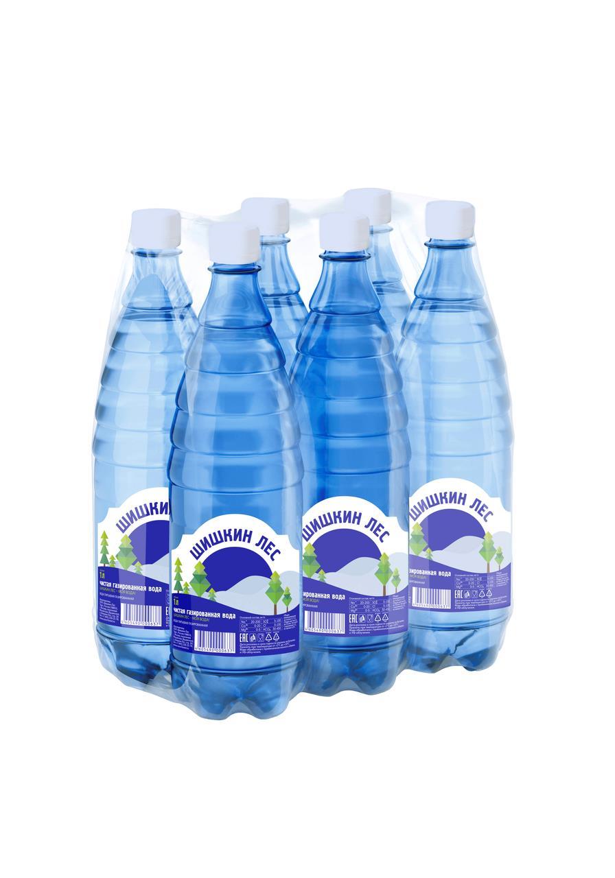 Питьевая вода ШИШКИН ЛЕС газированная, 1 л