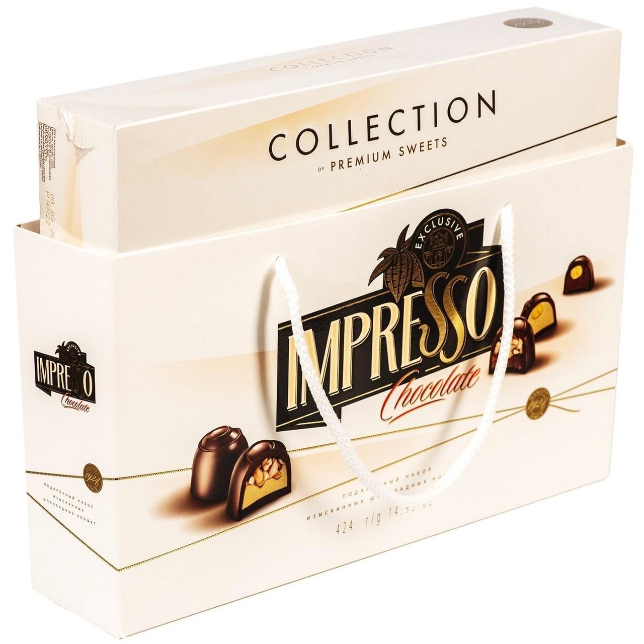 Конфеты IMPRESSO белый шоколад, 424 г
