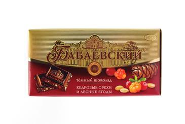 Шоколад Кедровые орехи и лесные ягоды Бабаевский, 100 г