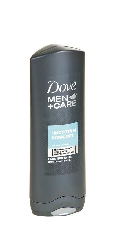 Гель для душа DOVE men чистота и комфорт, 250мл