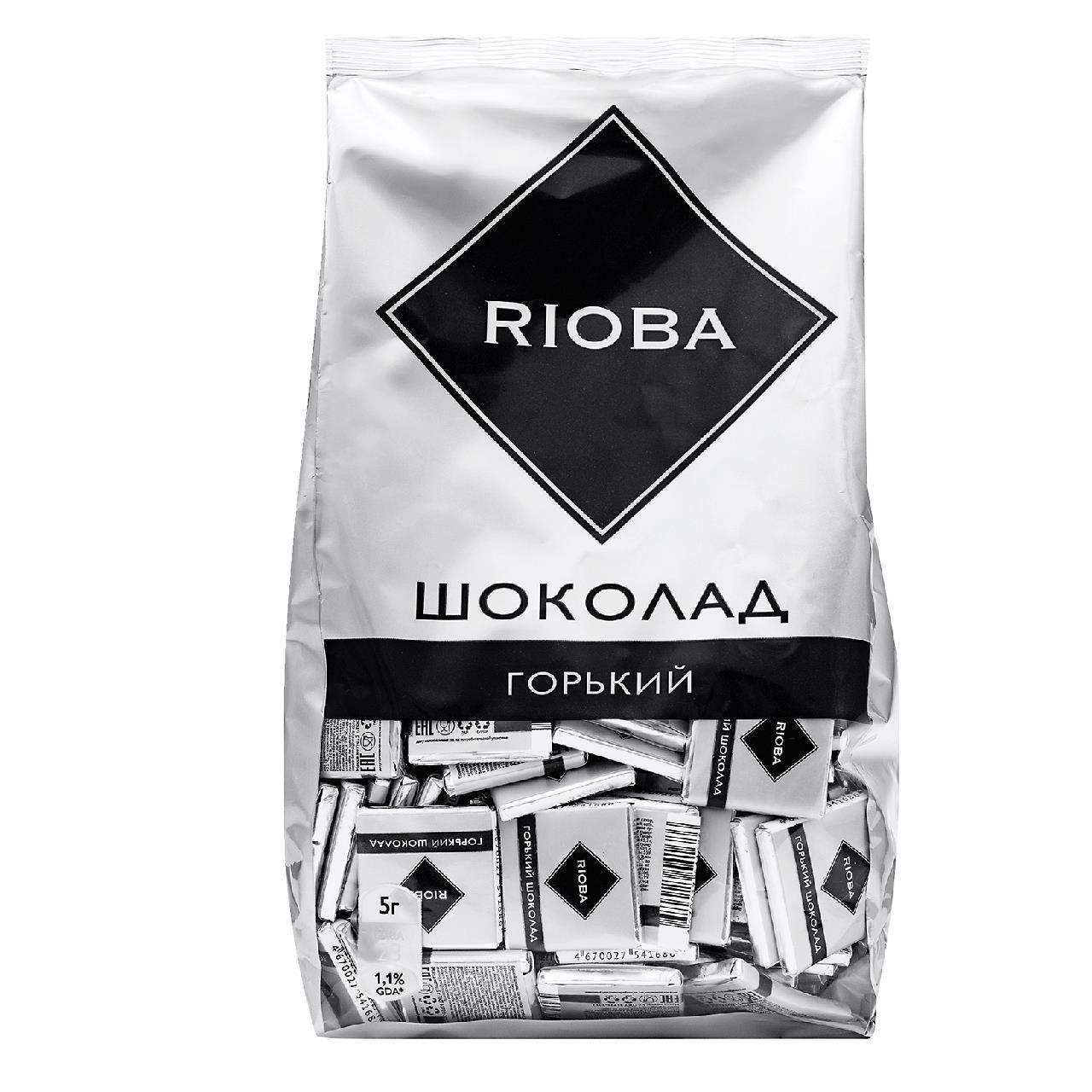 Шоколад RIOBA Горький порционный 72%, 800 г