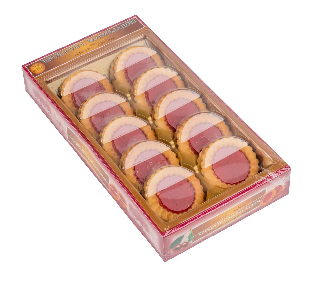 Печенье БИСКОТТИ с вишней, 235г