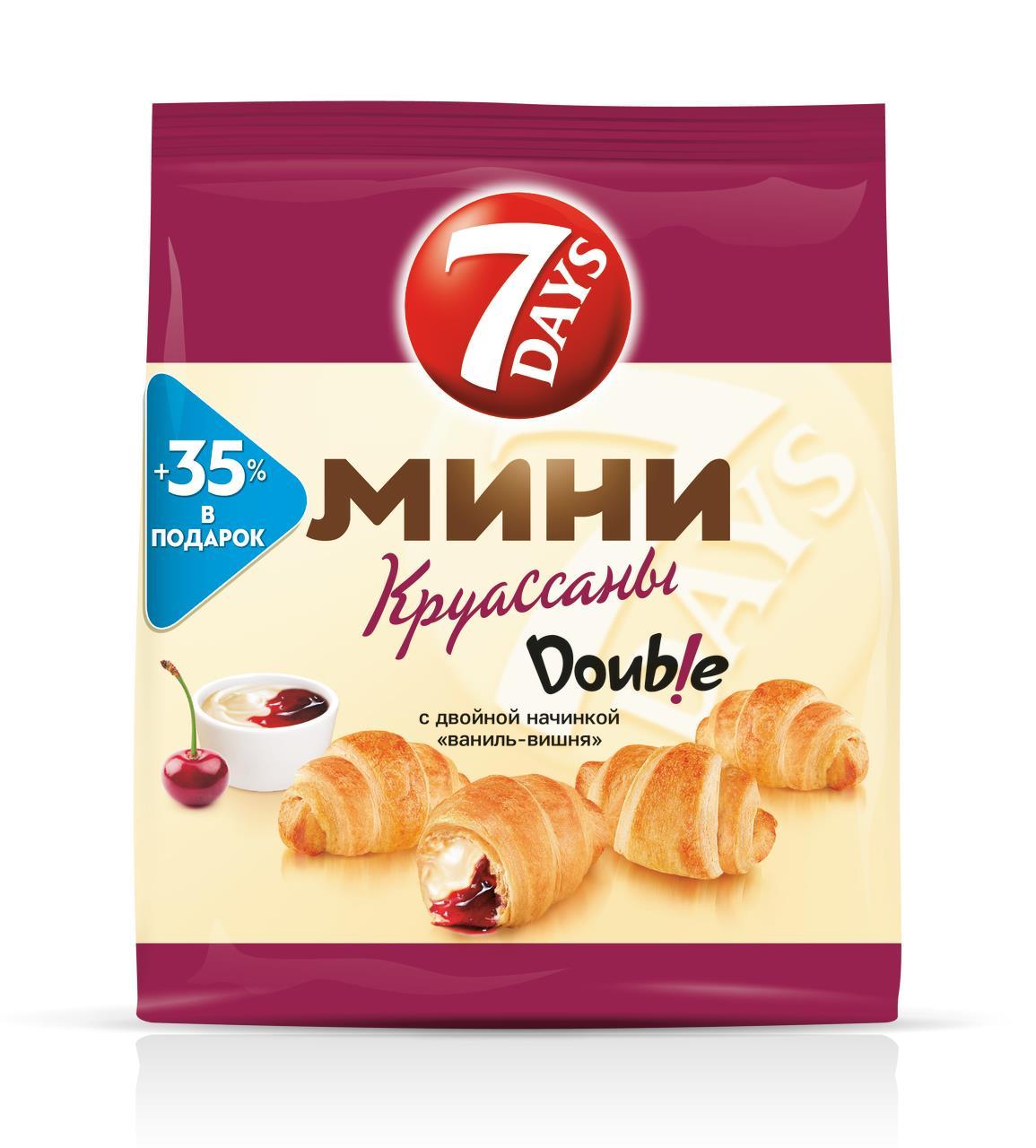 """""""Мини круассаны 7DAYS c двойной начинкой """"""""ваниль-вишня"""""""" 300 г"""""""