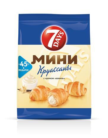 """Мини круассаны 7DAYS c кремом """"ваниль"""" 105 г"""