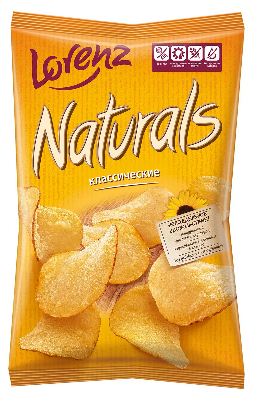 Чипсы LORENZ Naturals классические с солью, 100г