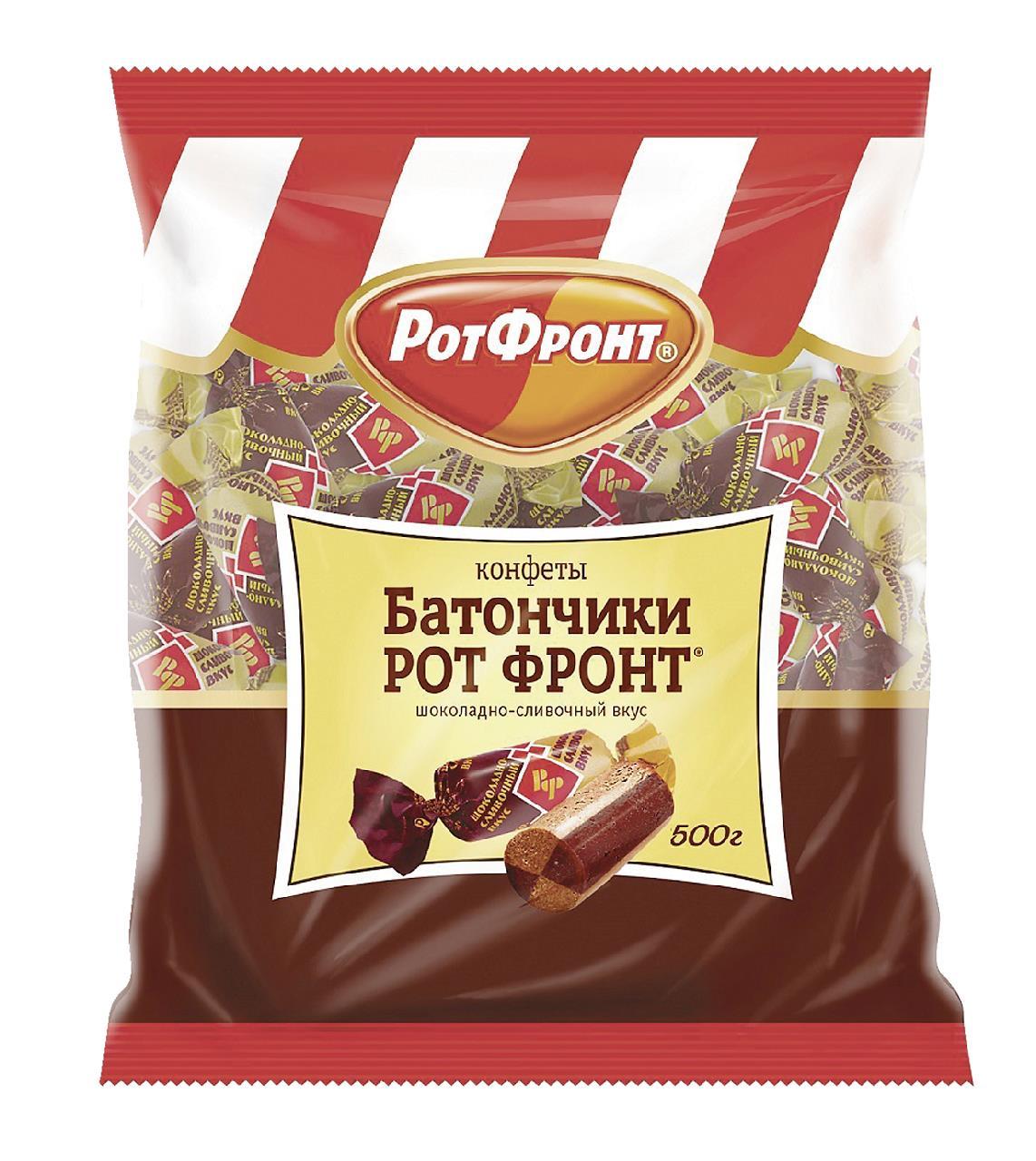 Батончики РОТ ФРОНТ Шоколадно-сливочные, 500г