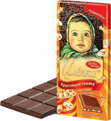 Шоколад Хрустящая сказка АЛЕНКА, 100 г